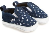 Vans Slip-On Hearts Crib Shoe (Baby)