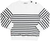 Junior Gaultier Stripes Printed Cotton Sweatshirt