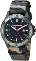 Tommy Bahama Men's Casual Stainless Steel Case and Camo Print Canvas Strap Watch (Model:TB00016-03)