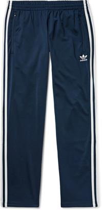 adidas Firebird Slim-Fit Logo-Embroidered Striped Satin-Jersey Track Pants