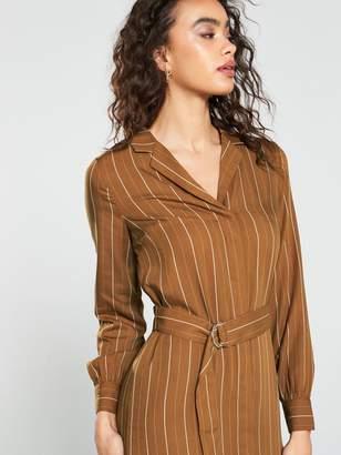 Very Stripe Button Through Shirt Dress