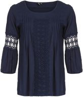 Izabel London Decorative Crochet Detail Top