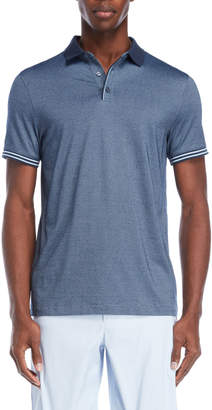Perry Ellis Short Sleeve Stripe Tipped Polo