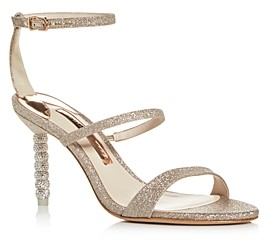 Sophia Webster Women's Rosalind 85 Strappy Glitter High-Heel Sandals