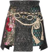 Dolce & Gabbana panelled jacquard mini skirt