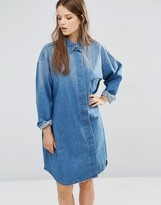 WÅVEN Sigvor Denim Shirt Dress