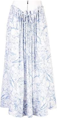 Tibi isa toile double waist skirt