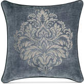 "J Queen New York Sicily Teal 20"" Square Embroidered Decorative Pillow"
