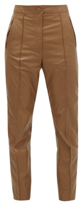 Petar Petrov Hogan Slim-fit Leather Trousers - Womens - Brown