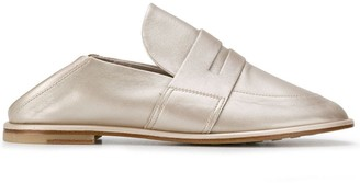 AGL Flat Metallic Loafers