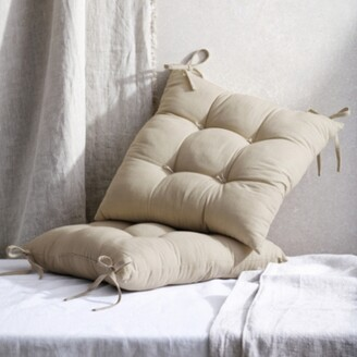 The White Company Natural Tufted Seat Pad, Natural, One Size