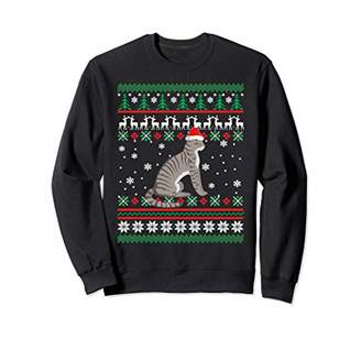 Cat Hat Santa Claus Ugly Christmas Sweater Matching Gift Sweatshirt