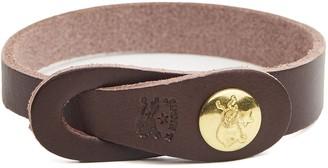 Il Bisonte Classic Cowhide Bracelet in Brown