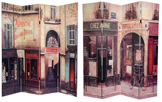 Oriental Furniture Handmade 6' Canvas French Cafe Room Divider