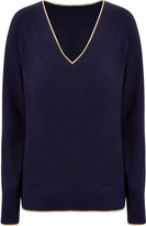 Juicy Couture Regal Lurex Trimmed Cashmere Pullover