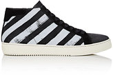 Off-White Men's Diagonal-Striped High-Top Sneakers