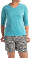 Columbia PFG Skiff Agua Shirt - Omni-Wick®, UPF 50, 3/4 Sleeve (For Women)