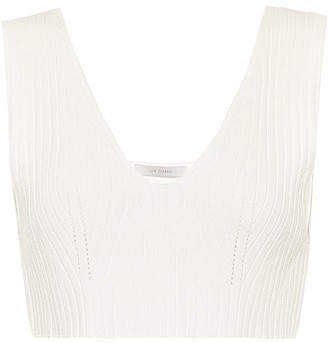 Low Classic Ribbed-knit crop top