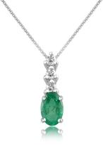 Tagliamonte Incanto Royale Diamond and Emerald Drop 18K Gold Pendant Necklace