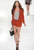 Rebecca Minkoff Becky Jacket in Fuschia/Black Contrast -