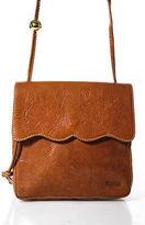 Furla Tan Brown Leather Small Long Strap Shoulder Handbag