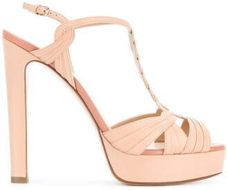 Francesco Russo Hill T-bar platform sandals