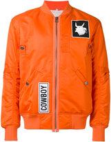 Helmut Lang patch bomber jacket - men - Cotton/Nylon/Viscose - S