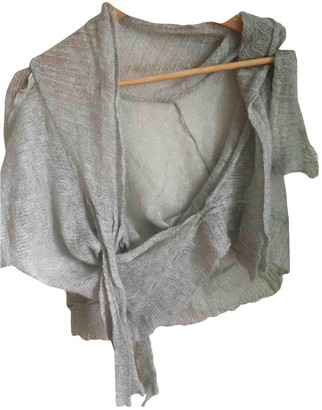 Non Signé / Unsigned Non Signe / Unsigned Silver Wool Knitwear for Women