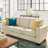 Verona Home Darden Down-Filled Sofa in White
