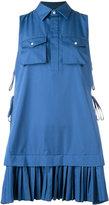 DSQUARED2 pleated shirt mini dress - women - Cotton - 40