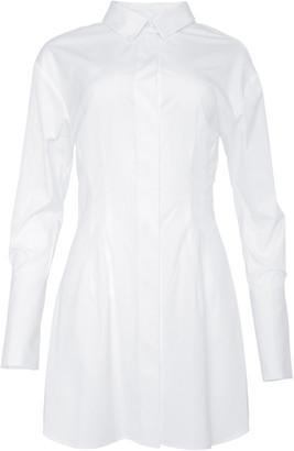 Studio Amelia Nipped Cotton Mini Shirt Dress