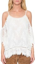 Willow & Clay Women's Lace Cold Shoulder Top
