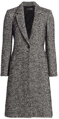 Rag & Bone Dani Herringbone One-Button Coat