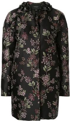 Giambattista Valli Jacquard Floral Coat