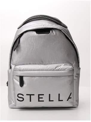 Stella McCartney Metallic Logo Printed Backpack