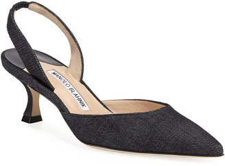 Manolo Blahnik Carolyne Denim Pump