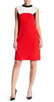 Nine West Ponte Colorblock Dress