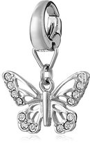 Fossil Nature Glitz Stainless Steel Butterfly Charm