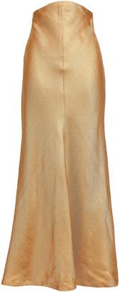 Zimmermann Painted Heart Metallic Woven Maxi Skirt
