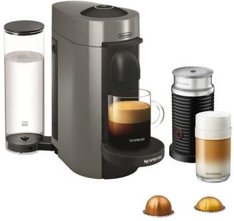 Nespresso by De'Longhi Vertuo Plus Coffee, Espresso Single-Serve Machine and Aeroccino Milk Frother Set
