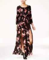 American Rag Junior's Floral-Print Split-Leg Jumpsuit, Created for Macy's