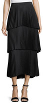 A.L.C. Harley Tiered Pleated Long Skirt