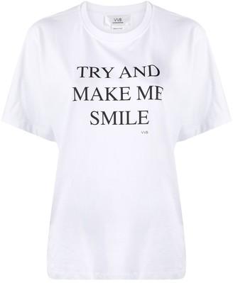Victoria Victoria Beckham 'try And Make Me Smile' Slogan T-Shirt
