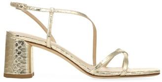 Via Spiga Roslyn Metallic Snakeskin Sandals