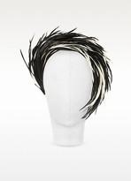 Nana Nana' Aurora - Black and White Feather Headband