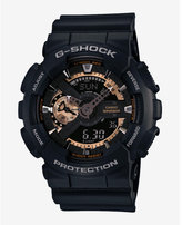 Express G-shock Extra Large Black And Rose Gold Watch