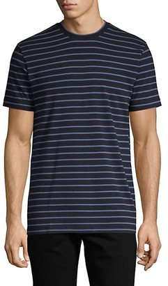 French Connection Striped Stretch-Cotton Tee