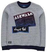 Airwalk Kids Logo Sweater Jumper Pullover Junior Boys Long Sleeve Crew Neck