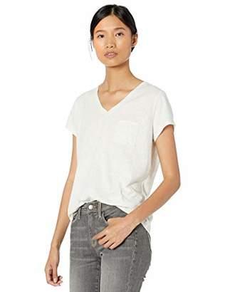 Goodthreads Amazon Brand Women's Washed Jersey Cotton Pocket V-Neck T-Shirt