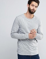ONLY & SONS Long Sleeve Top with Flecked Detail & Wide Neck